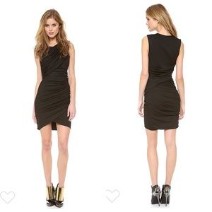Torn Ronny Kobo Alicia Dress Ruched Black Bodycon